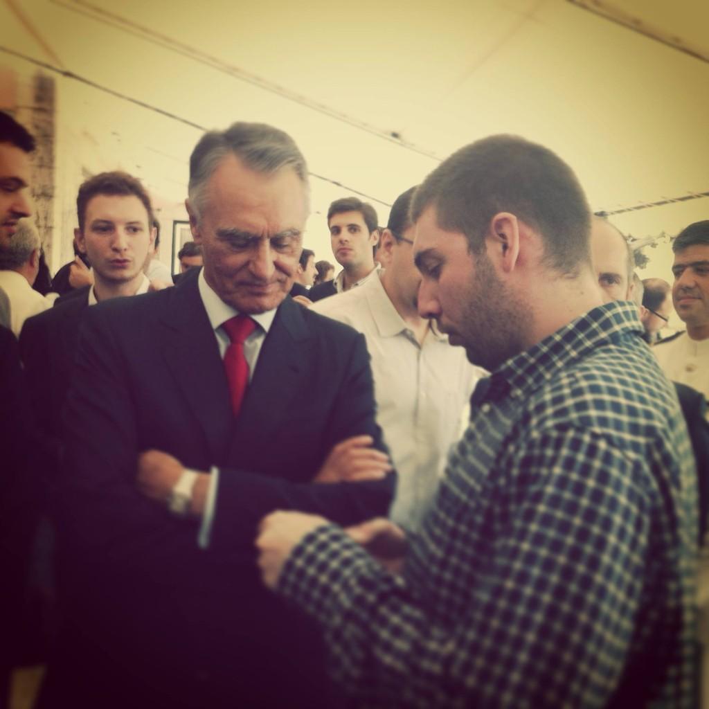 Олег (от Eventyard) с президента на Португалия
