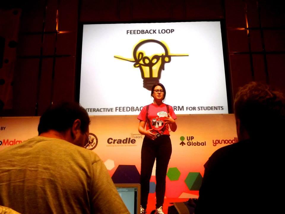 """""""Българската Канадка"""" (Моника Георгиева) презентира своя стартъп Feedback Loop, на GES 2013"""