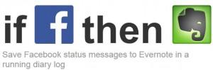 Запазете Facebook статус в дневник в Evernote