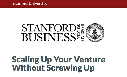 Scaling up your venture without screwing up