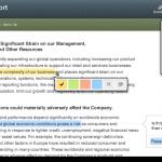 Възможности за маркиране на части от отчетите на компаниите